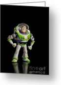 Portrait Greeting Cards - Buzz Lightyear Greeting Card by Johan Larson