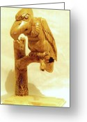 Wildlife Sculpture Greeting Cards - Buzzard Greeting Card by Russell Ellingsworth