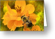 Larry Walker Greeting Cards - Buzzy The Honey Bee Greeting Card by J Larry Walker
