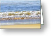 Bubbles Greeting Cards - By the Coral Sea Greeting Card by Holly Kempe