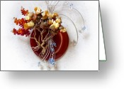 Sculpture Jewelry Greeting Cards - By the Rapids Greeting Card by Rhonda Chase