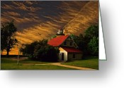 Door County Landmark Greeting Cards - By the Sea Greeting Card by Dennis Wright aka The Mellow One