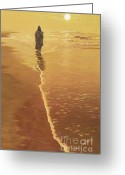 Religious Art Digital Art Greeting Cards - By The Sea Greeting Card by Larry Cole
