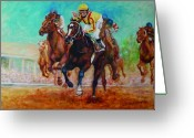 Churchill Downs Greeting Cards - Bye Bye Boys Greeting Card by Leisa Temple
