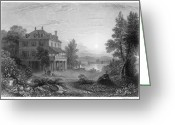 Mary Shelley Greeting Cards - Byron: Villa Diodati, 1816 Greeting Card by Granger