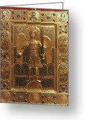 Byzantine Icon Photo Greeting Cards - Byzantine Art: St. Michael Greeting Card by Granger
