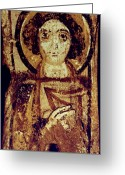 Byzantine Icon Greeting Cards - Byzantine Icon Greeting Card by Granger