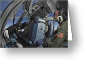 Control Greeting Cards - C-17 Globemaster Iii Aircrew Members Greeting Card by Stocktrek Images