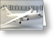 Cinema 4d Greeting Cards - C-17 Globemaster III Greeting Card by Dale Jackson