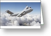 Military Artwork Greeting Cards - C-17 Globemaster III Greeting Card by Larry McManus