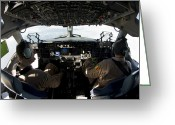 Control Greeting Cards - C-17 Globemaster Iii Pilots Fly Greeting Card by Stocktrek Images