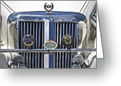 Chrome Grill Greeting Cards - C M C Greeting Card by Gwyn Newcombe