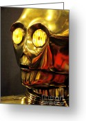 George Lucas Greeting Cards - C3p-o Greeting Card by Micah May