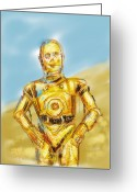 Star Wars Greeting Cards - C3po Greeting Card by Russell Pierce