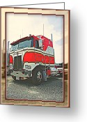 Truck Shows Greeting Cards - Cab-over Kenworth Greeting Card by Randy Harris