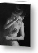 Nudes Greeting Cards - Caberet Greeting Card by Gary Leathendale
