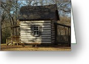 Robyn Stacey Photo Greeting Cards - Cabin at Fort Washita Greeting Card by Robyn Stacey