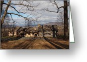 Log Cabin Photographs Greeting Cards - Cabin In The Woods Greeting Card by Robert Margetts