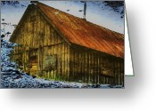 Tom Liesener Greeting Cards - Cabin Reflect Greeting Card by Tom Liesener