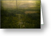 Traffic Greeting Cards - Cable Cars Greeting Card by Svetlana Sewell