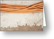 Horizontal Lines Greeting Cards - Cables Greeting Card by Shannon Fagan