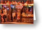 Cantina Greeting Cards - Cabo Cantina Hollywood Greeting Card by Mars Lasar