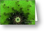 2hivelys Art Greeting Cards - Cactus Abstract Greeting Card by Methune Hively