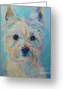 Canine Art Greeting Cards - Caddie Greeting Card by Kimberly Santini