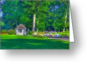 Golf Green Greeting Cards - Caddy Shack Greeting Card by Robert Pearson