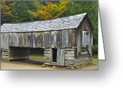 Pioneer Park Greeting Cards - Cades Cove Barn Greeting Card by Michael Peychich