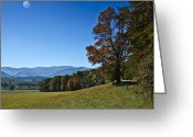 Autumn Colors Greeting Cards - Cades Cove Landscape Greeting Card by Carolyn Marshall