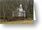 Precipitation Greeting Cards - Cades Cove Methodist Church - D007905 Greeting Card by Daniel Dempster