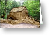 Marty Koch Greeting Cards - Cades Cove Mill Greeting Card by Marty Koch