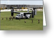 Osprey Photo Greeting Cards - Cadets And Active-duty Troops Swarm Greeting Card by Stocktrek Images
