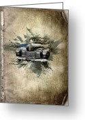 Free Mixed Media Greeting Cards - Cadillac Aldham Greeting Card by Svetlana Sewell