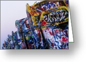 Texan Greeting Cards - Cadillac Ranch Greeting Card by Jeremy Woodhouse