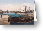 Caen Greeting Cards - Caen - France - Harbor View Greeting Card by International  Images