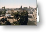 Caen Greeting Cards - Caen - France - Royal Palace and Hotel de Ville Greeting Card by International  Images