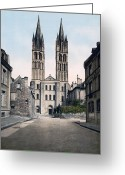 Caen Greeting Cards - Caen - France - St. Etienne Church Greeting Card by International  Images