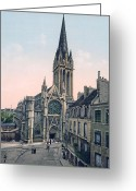 Caen Greeting Cards - Caen - France - St. Pierre Church Greeting Card by International  Images