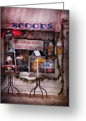 Mall Greeting Cards - Cafe - Clinton NJ - The luncheonette  Greeting Card by Mike Savad