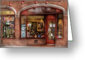 Central Jersey Greeting Cards - Cafe - Westfield NJ - Tutti Baci Cafe Greeting Card by Mike Savad