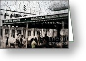 Scott Greeting Cards - Cafe Du Monde Greeting Card by Scott Pellegrin