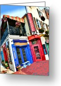 Little Italy Greeting Cards - Cafe Gia Greeting Card by Stephen Younts