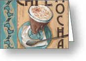 Old Painting Greeting Cards - Cafe Nouveau 1 Greeting Card by Debbie DeWitt