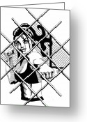 Freedom Fighter Brand Greeting Cards - Cage Before Beauty Greeting Card by Scarlett Royal