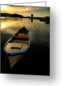 Sundown Greeting Cards - Caicque Greeting Card by Okan YILMAZ