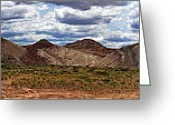 Polyptych Greeting Cards - Cainesville Utah Badlands Panorama Greeting Card by Gregory Scott