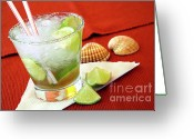 Cocktail Greeting Cards - Caipirinha Greeting Card by Carlos Caetano
