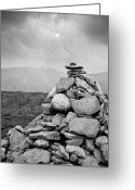 Stack Rock Greeting Cards - Cairn Greeting Card by George Imrie Photography